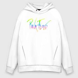 Толстовка оверсайз мужская Pink Floyd цвета белый — фото 1