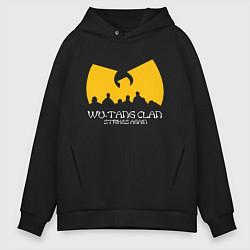 Толстовка оверсайз мужская Wu-Tang Clan цвета черный — фото 1