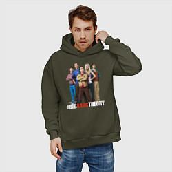 Толстовка оверсайз мужская Heroes of the Big Bang Theory цвета хаки — фото 2
