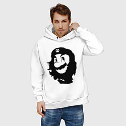 Толстовка оверсайз мужская Che Mario цвета белый — фото 2