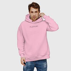 Толстовка оверсайз мужская PLUXURY цвета светло-розовый — фото 2
