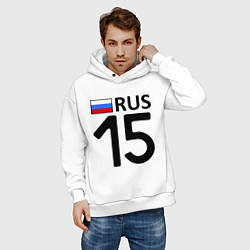 Толстовка оверсайз мужская RUS 15 цвета белый — фото 2