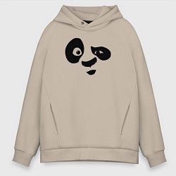 Толстовка оверсайз мужская Панда цвета миндальный — фото 1