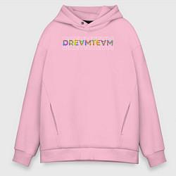 Толстовка оверсайз мужская Dream team цвета светло-розовый — фото 1