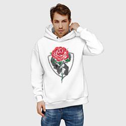 Толстовка оверсайз мужская Skull&Rose цвета белый — фото 2