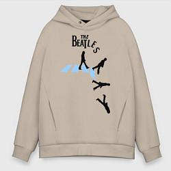 Толстовка оверсайз мужская The Beatles: break down цвета миндальный — фото 1