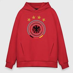 Толстовка оверсайз мужская Deutscher Fussball-Bund цвета красный — фото 1