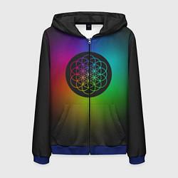 Толстовка 3D на молнии мужская Coldplay Colour цвета 3D-синий — фото 1