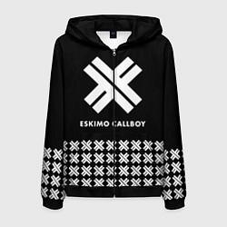 Толстовка 3D на молнии мужская Eskimo Callboy: Cross цвета 3D-черный — фото 1