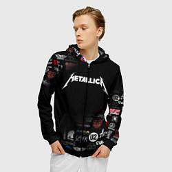 Толстовка 3D на молнии мужская Metallica цвета 3D-черный — фото 2