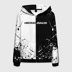 Толстовка 3D на молнии мужская Nickelback цвета 3D-черный — фото 1
