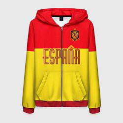 Толстовка 3D на молнии мужская Сборная Испании: Евро 2016 цвета 3D-красный — фото 1