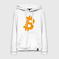 Толстовка-худи хлопковая мужская Bitcoin Boss цвета белый — фото 1
