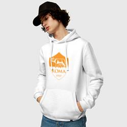 Толстовка-худи хлопковая мужская AS Roma: Autumn Top цвета белый — фото 2