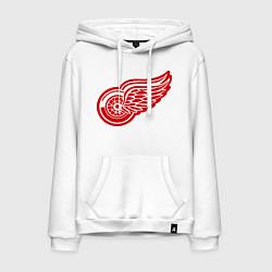 Толстовка-худи хлопковая мужская Detroit Red Wings: Pavel Datsyuk цвета белый — фото 1