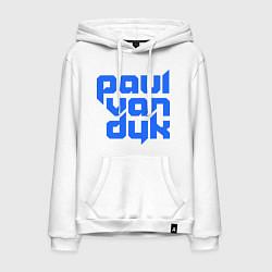Толстовка-худи хлопковая мужская Paul van Dyk: Filled цвета белый — фото 1
