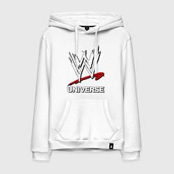 Толстовка-худи хлопковая мужская WWE universe цвета белый — фото 1