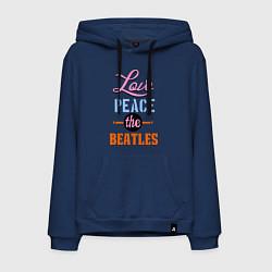 Мужская толстовка-худи Love peace the Beatles