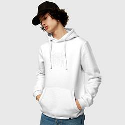 Толстовка-худи хлопковая мужская Ghostemane цвета белый — фото 2