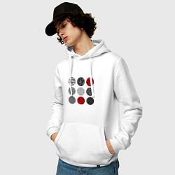 Толстовка-худи хлопковая мужская TOP: Blurryface цвета белый — фото 2