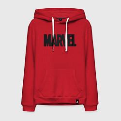 Толстовка-худи хлопковая мужская MARVEL цвета красный — фото 1
