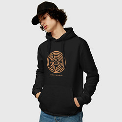 Толстовка-худи хлопковая мужская Westworld labyrinth цвета черный — фото 2
