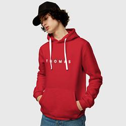 Толстовка-худи хлопковая мужская Thomas Mraz цвета красный — фото 2