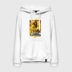 Толстовка-худи хлопковая мужская The Punisher цвета белый — фото 1