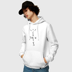 Толстовка-худи хлопковая мужская TRAVIS SCOTT цвета белый — фото 2