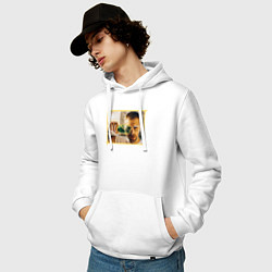 Толстовка-худи хлопковая мужская Max Barskih цвета белый — фото 2