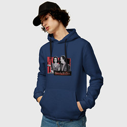 Толстовка-худи хлопковая мужская WandaVision цвета тёмно-синий — фото 2