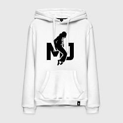 Толстовка-худи хлопковая мужская MJ Music цвета белый — фото 1