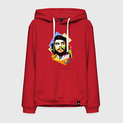 Толстовка-худи хлопковая мужская Che Guevara Art цвета красный — фото 1