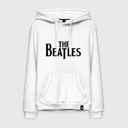 Толстовка-худи хлопковая мужская The Beatles цвета белый — фото 1