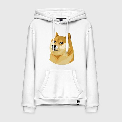Мужская толстовка-худи Doge / Белый – фото 1