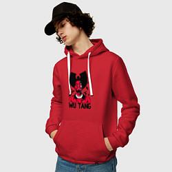 Толстовка-худи хлопковая мужская Wu-Tang Insects цвета красный — фото 2