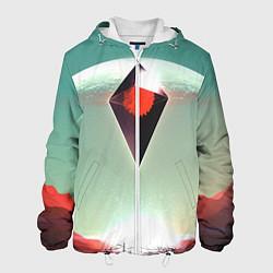 Куртка с капюшоном мужская No Mans Sky цвета 3D-белый — фото 1