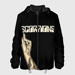 Куртка с капюшоном мужская Scorpions Rock цвета 3D-черный — фото 1