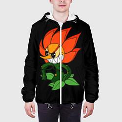 Куртка с капюшоном мужская Cuphead - Кэгни Гвоздика цвета 3D-белый — фото 2