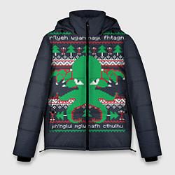 Куртка зимняя мужская Новогодний свитер Ктулху цвета 3D-черный — фото 1