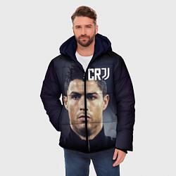 Куртка зимняя мужская RONALDO CR7 цвета 3D-черный — фото 2