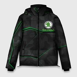 Куртка зимняя мужская SKODA цвета 3D-черный — фото 1