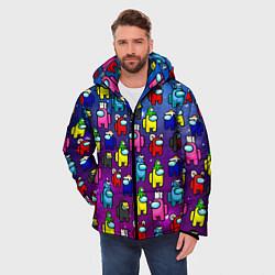 Куртка зимняя мужская AMONG US цвета 3D-черный — фото 2