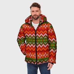 Куртка зимняя мужская Зимний узор цвета 3D-черный — фото 2
