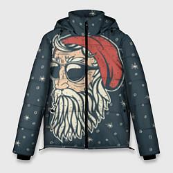 Куртка зимняя мужская Санта хипстер цвета 3D-черный — фото 1