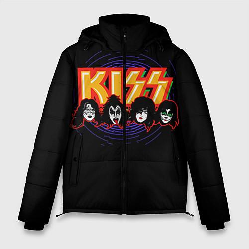 Мужская зимняя куртка KISS: Death Faces / 3D-Черный – фото 1