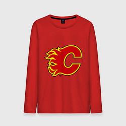 Лонгслив хлопковый мужской Calgary Flames цвета красный — фото 1