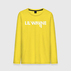 Лонгслив хлопковый мужской Lil Wayne цвета желтый — фото 1