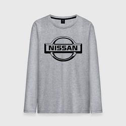 Лонгслив хлопковый мужской Nissan club цвета меланж — фото 1