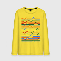 Лонгслив хлопковый мужской Эквалайзер цвета желтый — фото 1